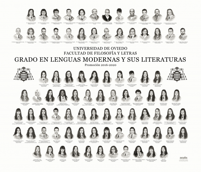 Orla del Grado en Lenguas Modernas y sus Literaturas de la Facultad de Filosofia y Letras de la Universidad de Oviedo