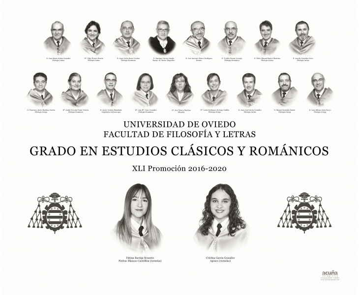 Orla del Grado en Estudios Clásicos y Románicos de la Facultad de Filosofia y Letras de la Universidad de Oviedo