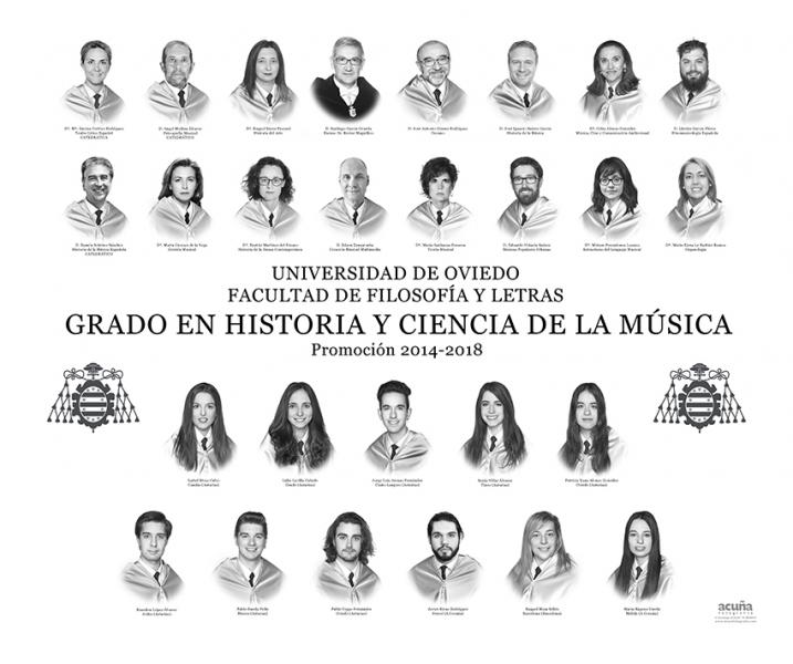 Orla del Grado en Historia y Ciencias de la Música de la Facultad de Filosofia y Letras de la Universidad de Oviedo