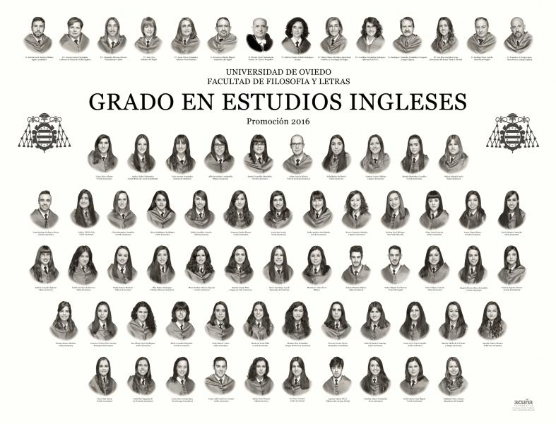 Orla del Grado Estudios Ingleses de la Facultad de Filosofia y Letras de la Universidad de Oviedo