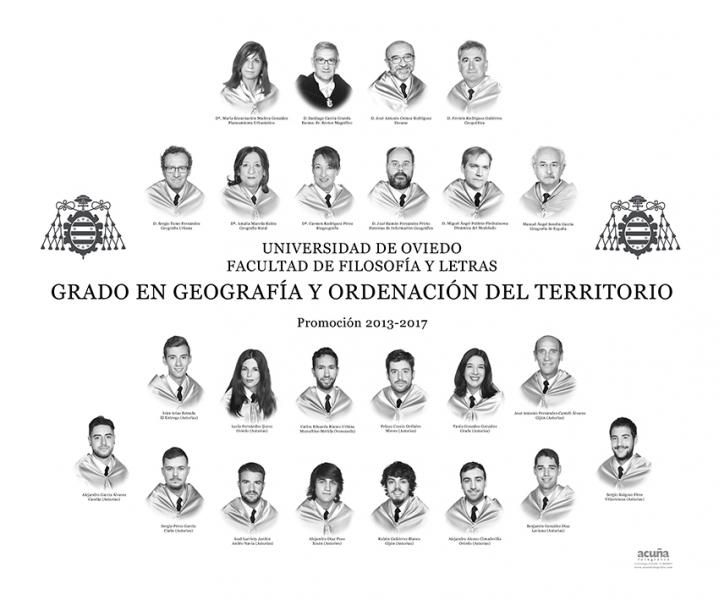 Orla del Grado en Geografía y Ordenación del Territorio de la Facultad de Filosofia y Letras de la Universidad de Oviedo