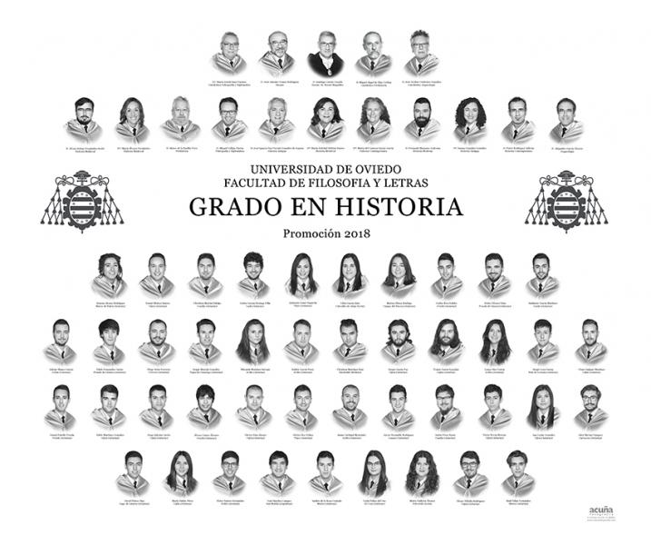 Orla del Grado en Historia de la Facultad de Filosofia y Letras de la Universidad de Oviedo