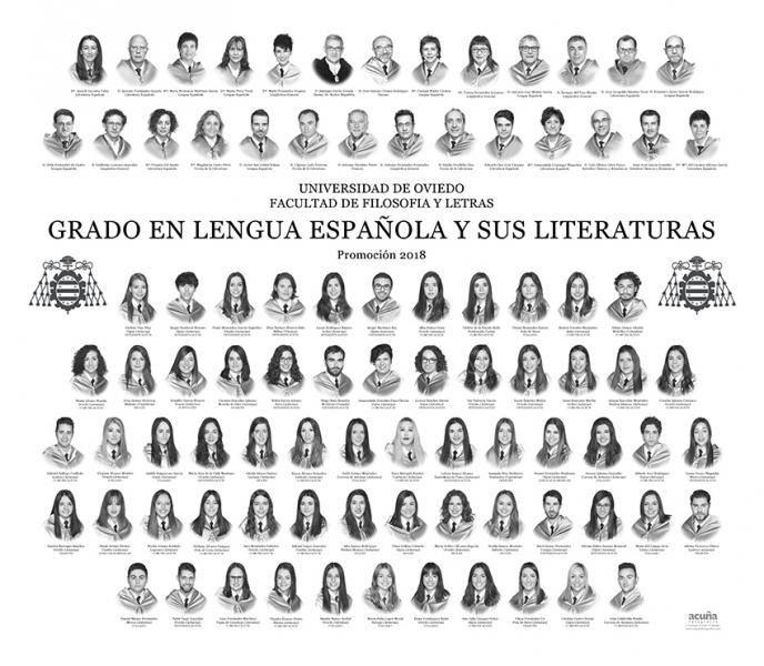 Orla del Grado en Lengua Española y sus Literaturas de la Facultad de Filosofia y Letras de la Universidad de Oviedo