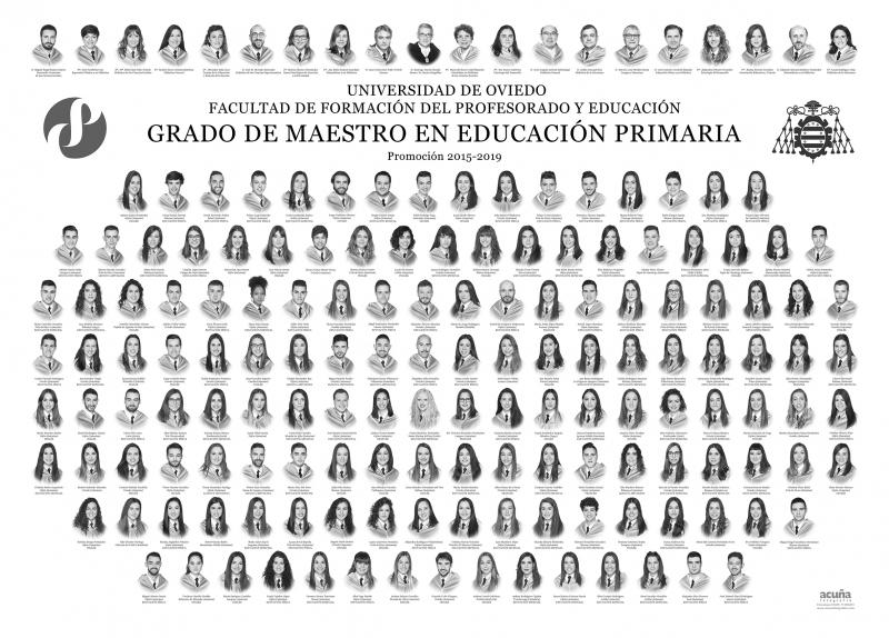 Orla del Grado de Maestro en Educación Primaria de la Facultad de Formación del Profesorado y Educación de la Universidad de Oviedo