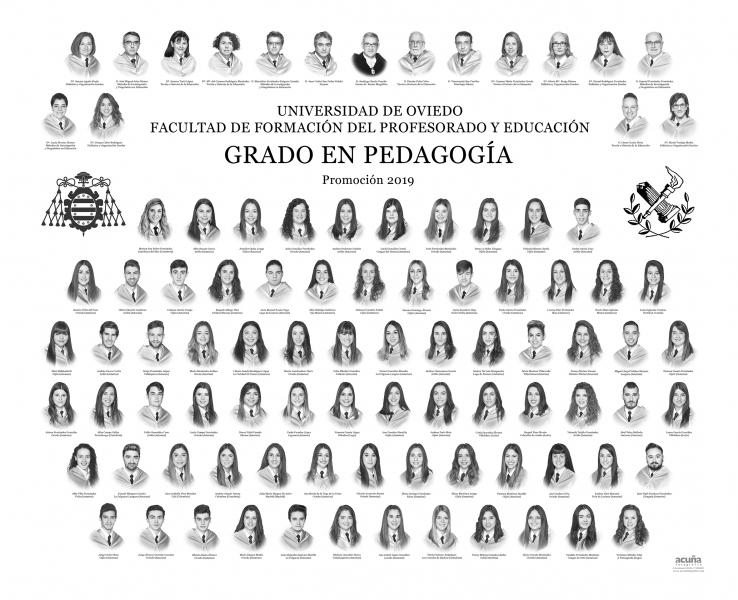 Orla del Grado en Pedagogía de la Facultad de Formación del Profesorado y Educación de la Universidad de Oviedo