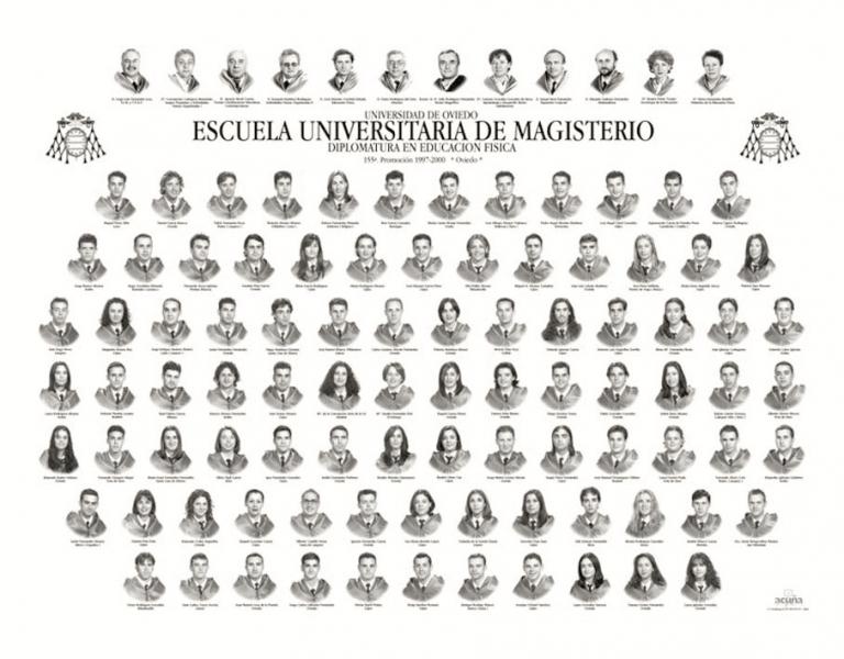 Orla de la Diplomatura en Educación Física de la Facultad de Formación del Profesorado y Educación de la Universidad de Oviedo