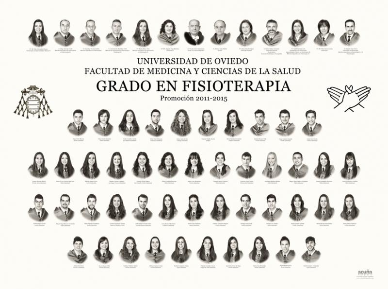 Orla del Grado en Fisioterapia de la Facultad de Medicina y Ciencias de la Salud de la Universidad de Oviedo