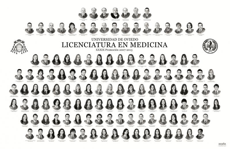 Orla de la Licenciatura de Medicina de la Facultad de Medicina y Ciencias de la Salud de la Universidad de Oviedo