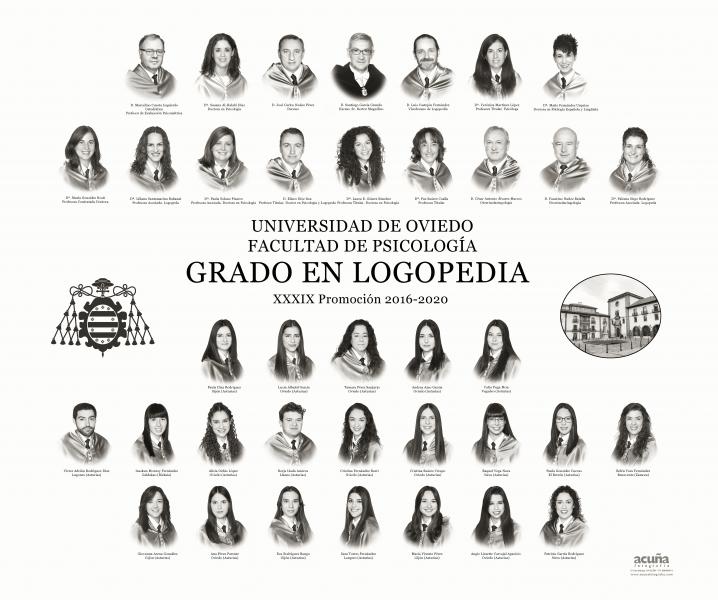 Orla del Grado en Logopedia de la Universidad de Oviedo