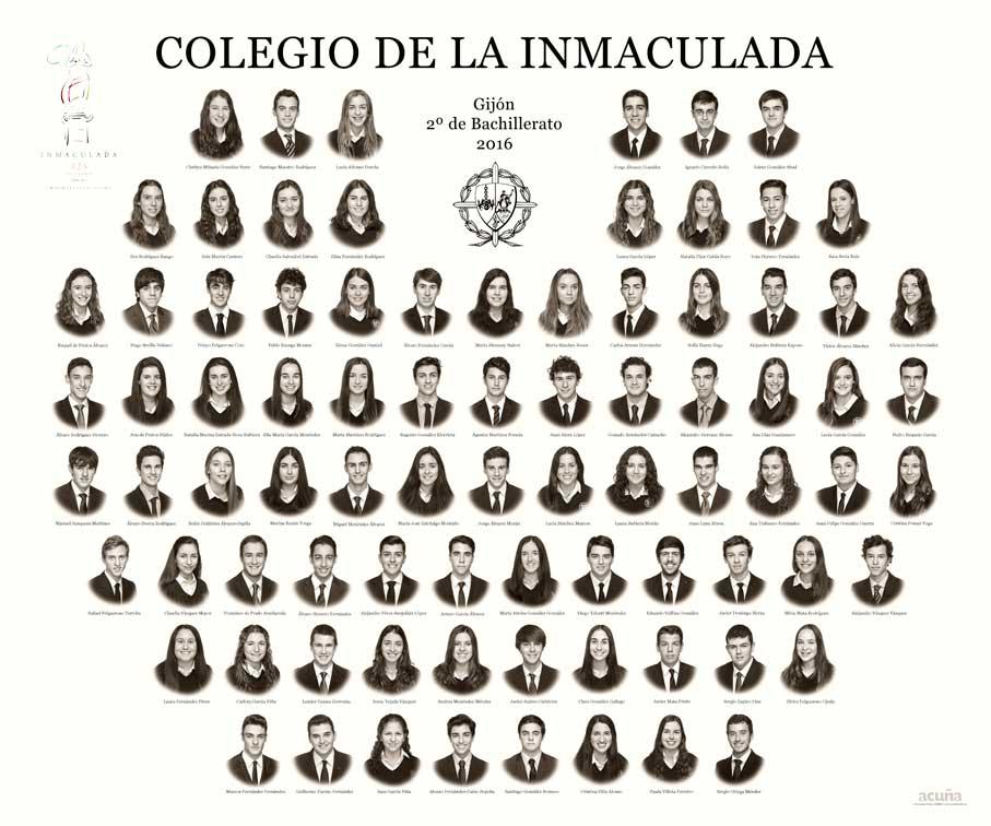 Orla del Colegio de la Inmaculada de Gijón 2016