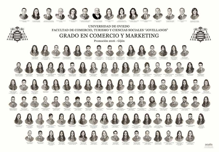 Orla del Grado en Comercio y Marketing 2016 de la Facultad de Comercio,Turismo y Ciencias Sociales de la Universidad de Oviedo