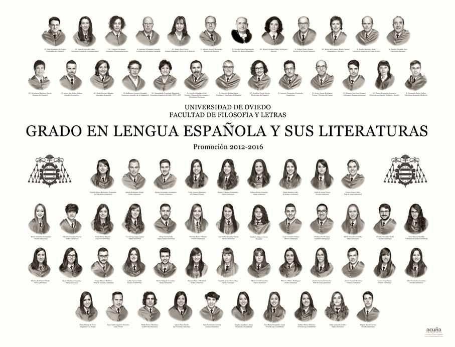Orla del Grado en Lengua Española y sus Literaturas 2016 de la Facultad de Filosofía y Letras de la Universidad de Oviedo