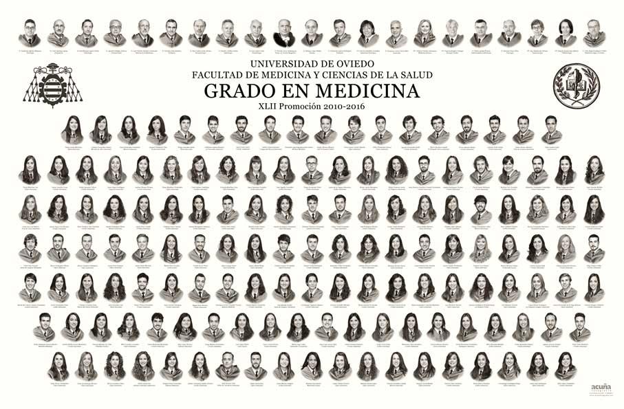 Orla del Grado en Medicina 2016 de la Facultad de Medicina y Ciencias de la Salud de la Universidad de Oviedo