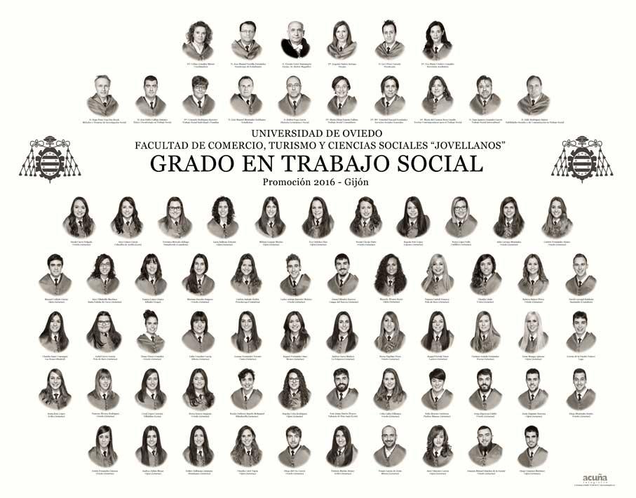 Orla del Grado en Trabajo Social 2016 de la Facultad de Comercio,Turismo y Ciencias Sociales de la Universidad de Oviedo