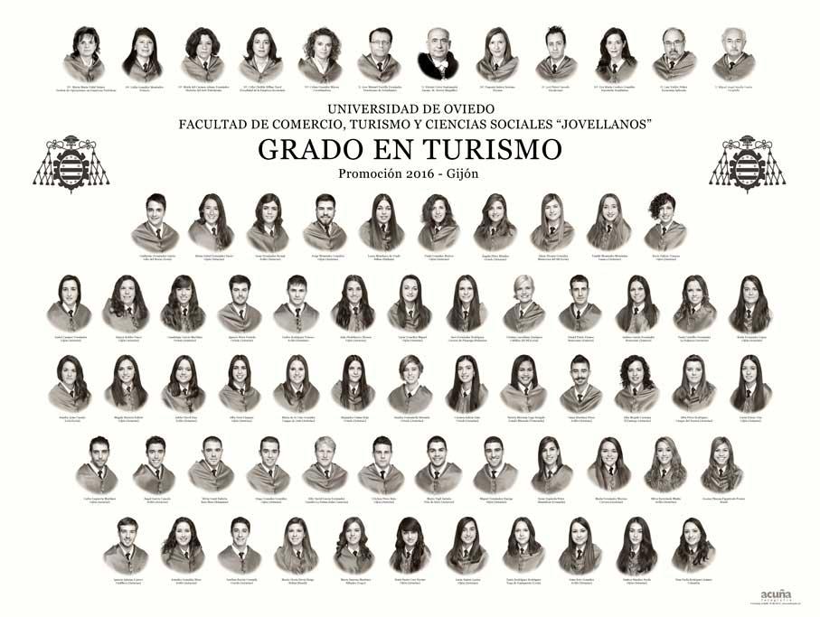 Orla del Grado en Turismo 2016 de la Facultad de Comercio,Turismo y Ciencias Sociales de la Universidad de Oviedo