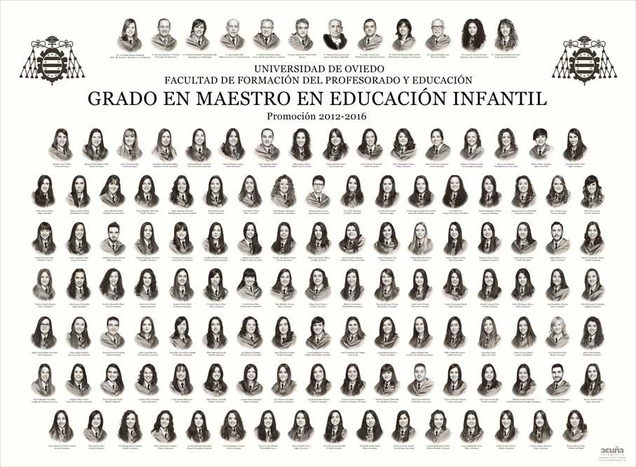 Orla Grado en Educación Infantil 2016 de la Facultad de Formación del Profesorado y Educación (Magisterio) de la Universidad de Oviedo