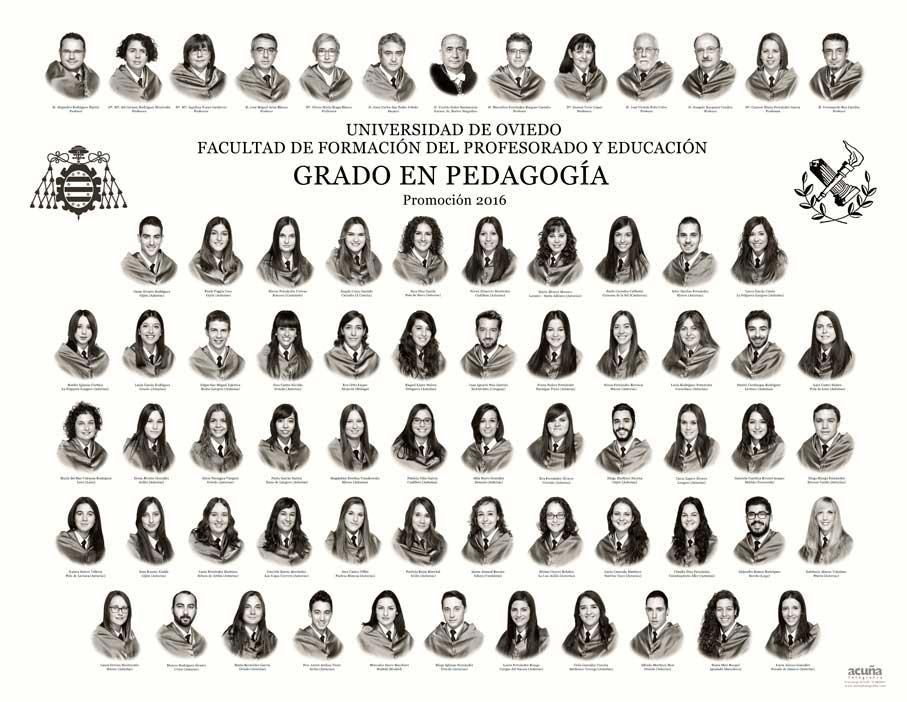 Orla Grado en Pedagogía 2016 de la Facultad de Formación del Profesorado y Educación (Magisterio) de la Universidad de Oviedo