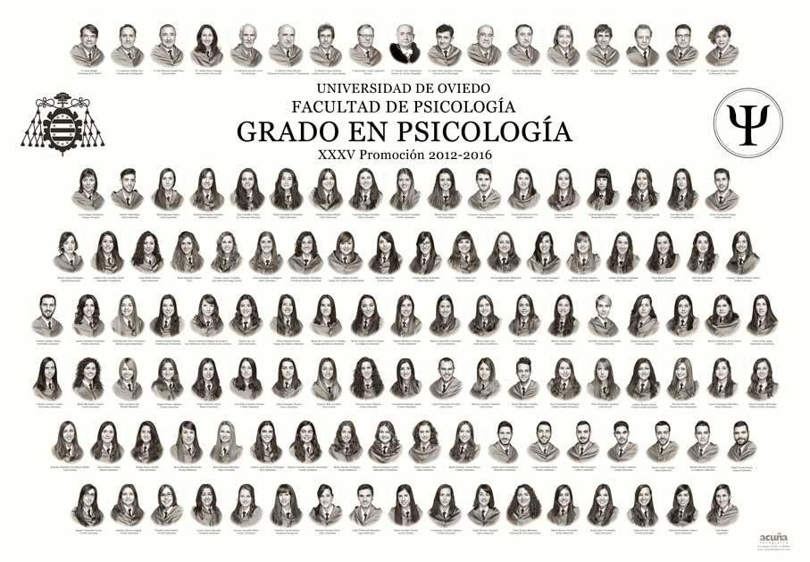 Orla del Grado en Psicología 2016 de la Facultad de Psicología de la Universidad de Oviedo