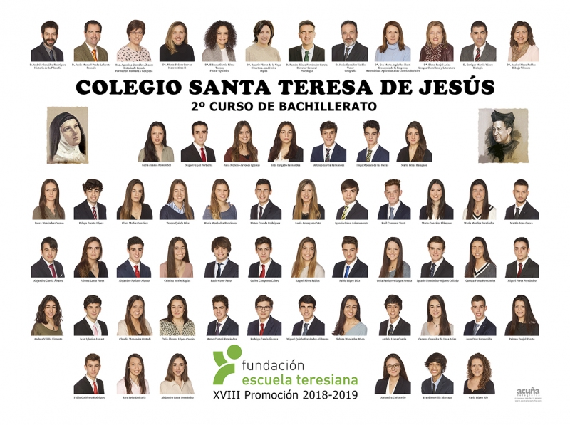 Orla de Bachillerato del Colegio Santa Teresa de Jesús de Oviedo Promoción 2019