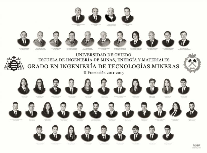Orla del Grado en Ingeniería de Tecnologías Mineras de la Escuela de Ingeniería de Minas, Energía y Materiales de la Universidad de Oviedo