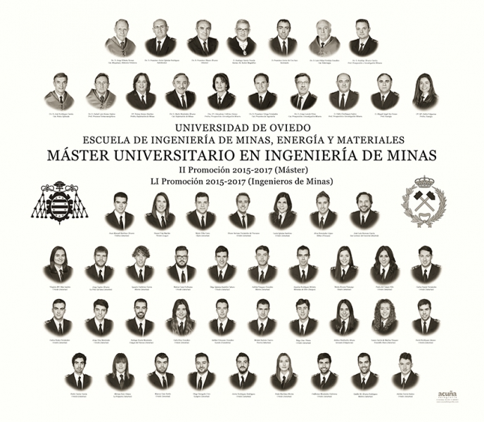 Orla del Master en Tecnologías Mineras de la Escuela de Ingeniería de Minas, Energía y Materiales de la Universidad de Oviedo