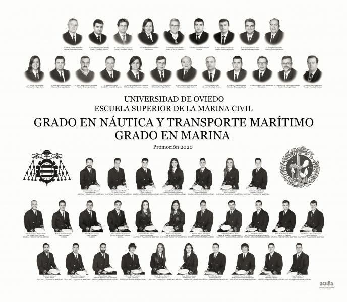 Orla del Grado en Nautica y Transporte Marítimo  y Grado en Marina de la Universidad de Oviedo