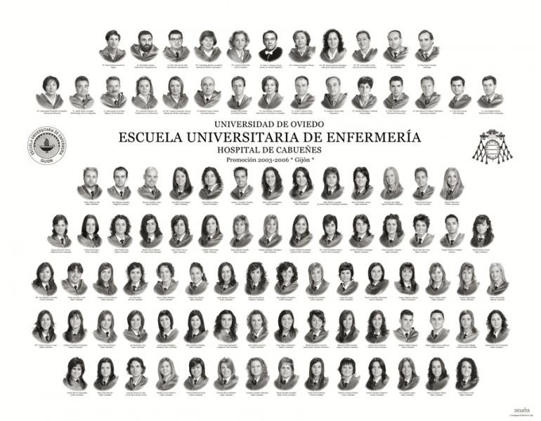 Orla de la Escuela Universitaria de Enfermeria de Cabueñes en Gijón
