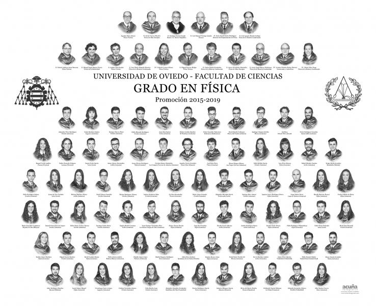 Orla del Grado de Física de la Universidad de Oviedo - Promoción 2019