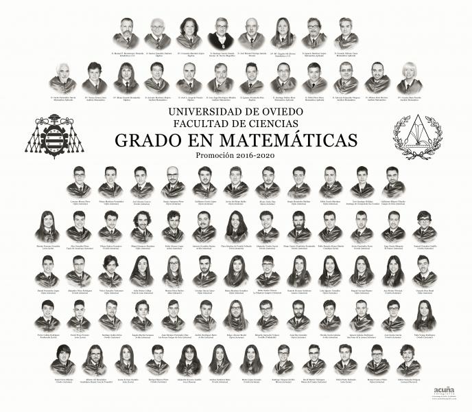 Orla del Grado de Matemáticas de la Universidad de Oviedo - Promoción 2020