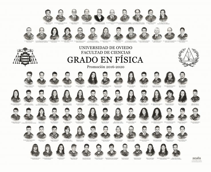 Orla del Grado de Física de la Universidad de Oviedo - Promoción 2020