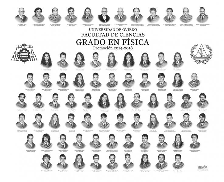 Orla del Grado de Física de la Universidad de Oviedo - Promoción 2018