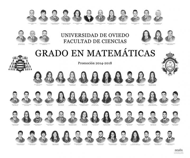 Orla del Grado de Matemáticas de la Universidad de Oviedo - Promoción 2018