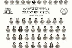 Orla del Grado de Física de la Universidad de Oviedo - Promoción 2016