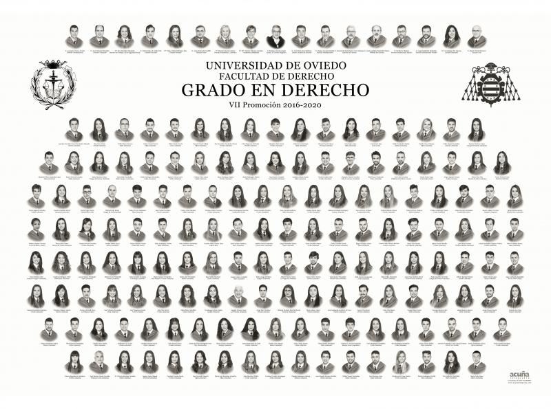 Orla del Grado de Derecho de la Facultad de Derecho de la Universidad de Oviedo