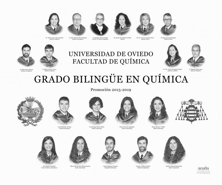 Orla del Grado Bilingüe en Química de la Universidad de Oviedo