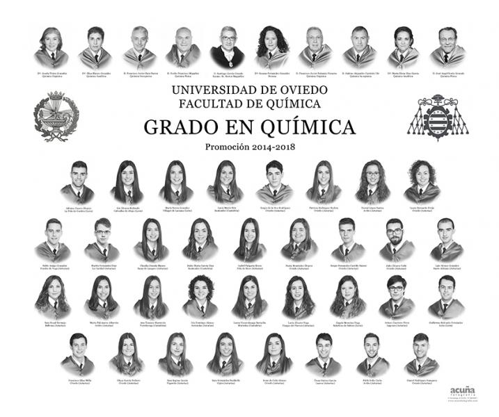 Orla del Grado de Química de la Universidad de Oviedo