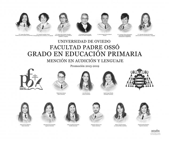 Orla del Grado de Primaria Mencion de Audicion y Lenguaje de la Facultad Padre Ossó de Oviedo