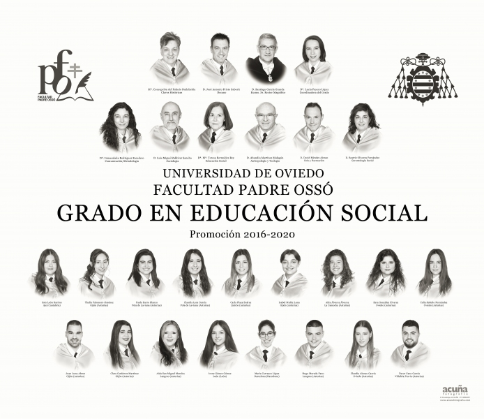 Orla del Grado de Educacion Social de la Facultad Padre Ossó de Oviedo