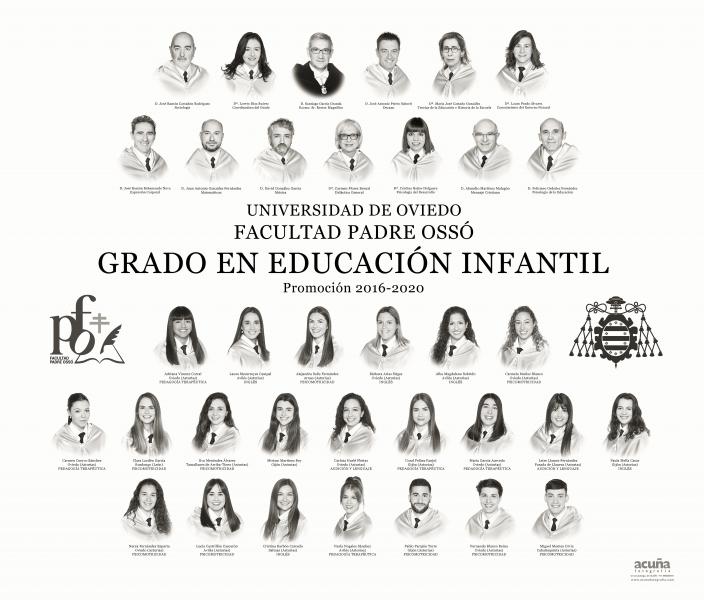 Orla del Grado de Educación Infantil de la Facultad Padre Ossó de Oviedo
