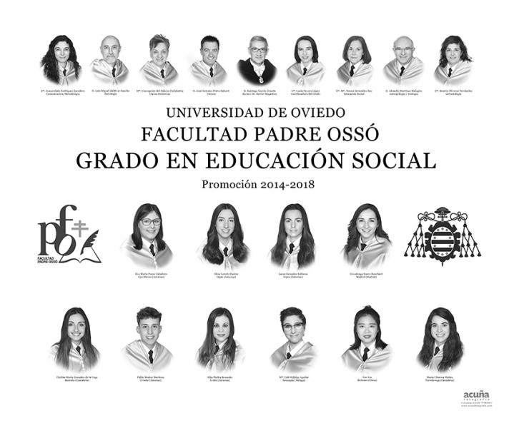 Orla del Grado de Educación Social de la Facultad Padre Ossó de Oviedo
