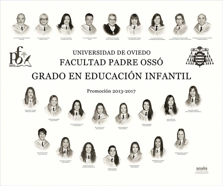 Orla del Grado de Infantil de la Facultad Padre Ossó de Oviedo