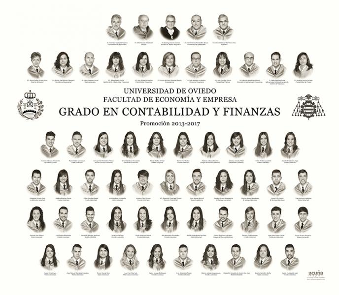 Orla del Grado de Contabilidad y Finanzas de la Facultad de Economia y Empresa de la Universidad de Oviedo