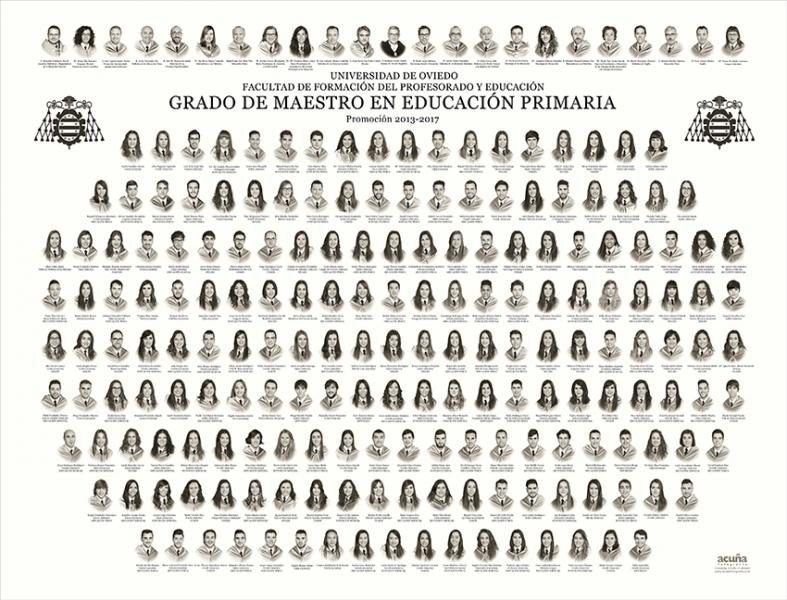Orla del Grado de Maestro en Educación Primaria de la Facultad de Formación del Profesorado y la Educación de la Universidad de Oviedo