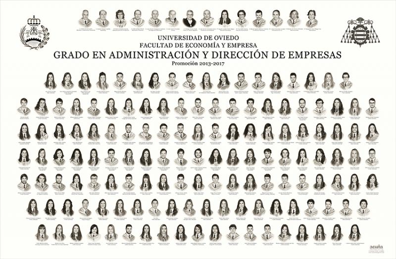 Orla del Grado de Administración y Dirección de Empresas de la Facultad de Economia y Empresa de la Universidad de Oviedo