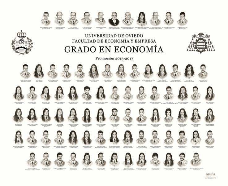 Orla del Grado de Economía de la Facultad de Economia y Empresa de la Universidad de Oviedo
