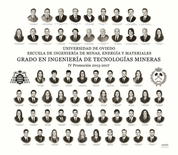 Orla del Grado de Ingeniería de Tecnologías Mineras de la Escuela de Minas, Energía y Materiales de la Universidad de Oviedo