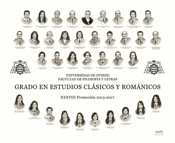 Orla del Grado de Estudios Clásicos y Románicos de la Facultad de Filosofía y Letras de la Universidad de Oviedo