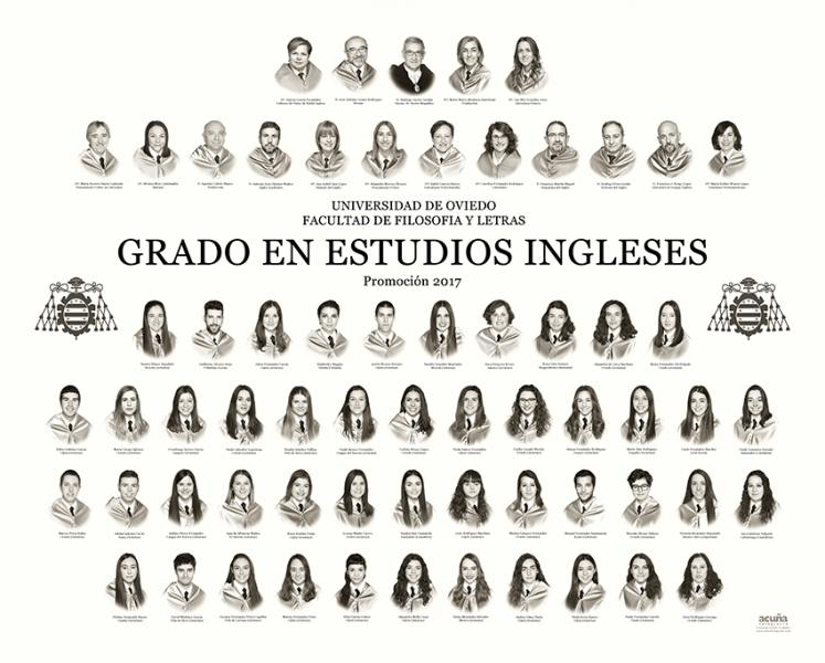 Orla del Grado de Estudios Ingleses de la Facultad de Filosofía y Letras de la Universidad de Oviedo