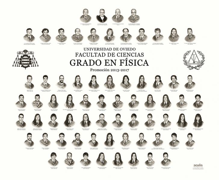 Orla del Grado de Física de la Facultad de Ciencias de la Universidad de Oviedo