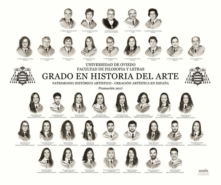 Orla del Grado de Historia del Arte de la Facultad de Filosofía y Letras de la Universidad de Oviedo